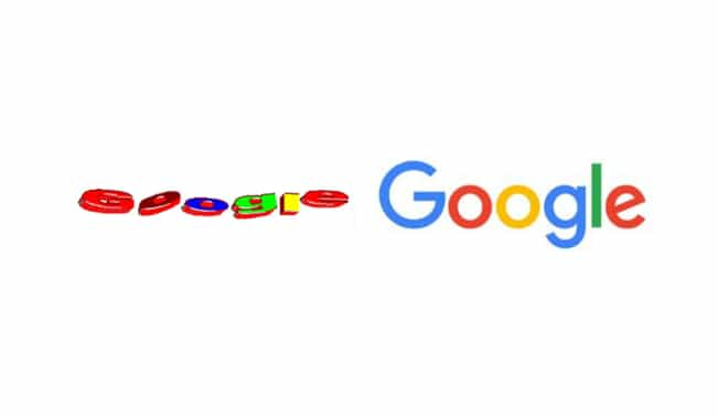 Google is listed (or ranked) 1 on the list 15 Famous Corporate Logos Then And Now