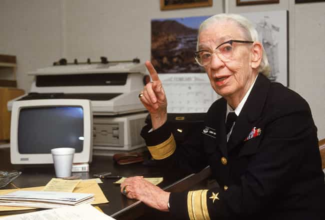 Grace Hopper is listed (or ranked) 3 on the list 20 Amazing Women in STEM Fields