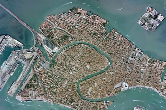 Grand Canal is listed (or ranked) 2 on the list 30+ Famous Places Seen From a New Perspective