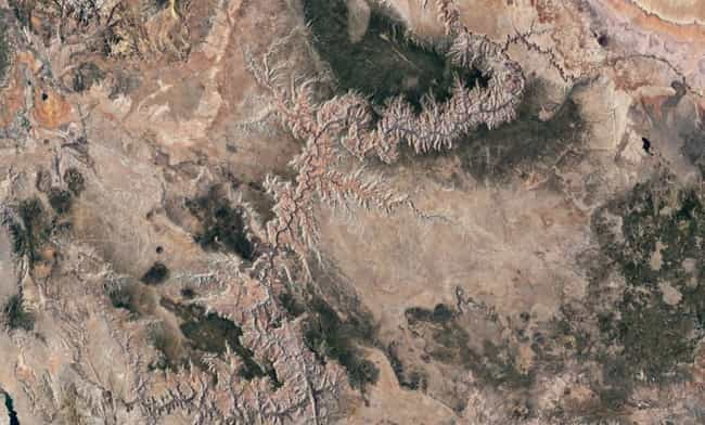 Grand Canyon is listed (or ranked) 3 on the list Amazing Google Satellite Images Of Famous Places Around The World