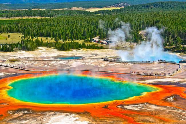 Grand Prismatic Spring is listed (or ranked) 1 on the list Real Landscapes That Look Like They're From Another Planet