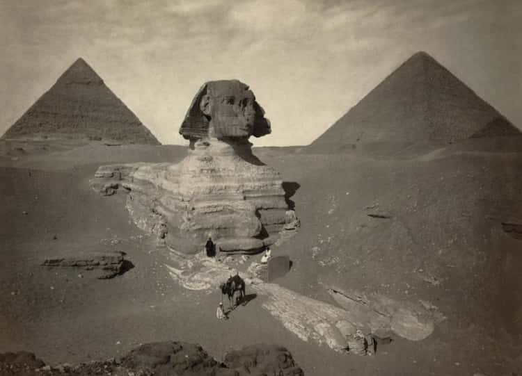 Great Sphinx Of Giza Partly Excavated, 1860s