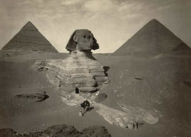 Great Sphinx of Giza is listed (or ranked) 1 on the list 17 Photos Of Historical Landmarks Like You Probably Haven't Seen Them Before