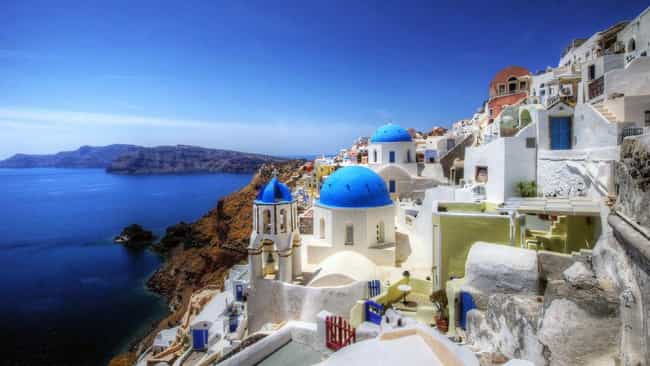 Greece is listed (or ranked) 4 on the list The Most Beautiful Countries in the World
