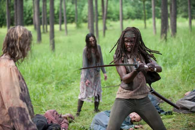 Danai Gurira is listed (or ranked) 4 on the list The Best Celebrities to Team With During the Zombie Apocalypse