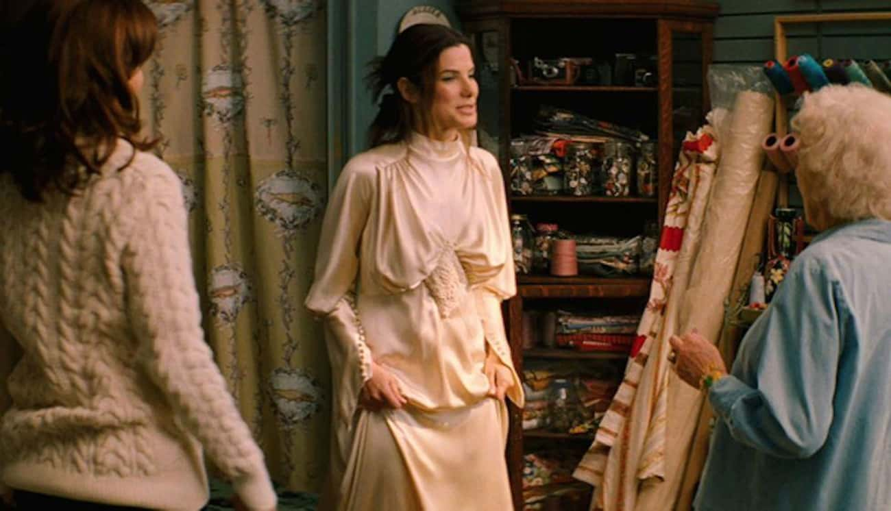 Margaret Tate's Dress In 'The  is listed (or ranked) 1 on the list The Worst Wedding Dresses In Romantic Comedy History