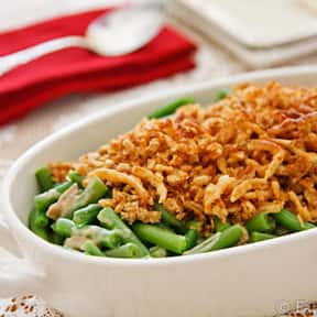 Green Bean Casserole is listed (or ranked) 7 on the list The Most Delicious Thanksgiving Side Dishes