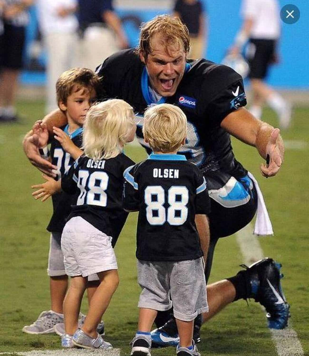 Greg Olsen Gets Surprised by H is listed (or ranked) 2 on the list Adorable Pictures of NFL Players Caught Being Dads