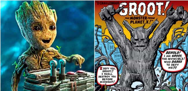 Groot is listed (or ranked) 3 on the list Your Favorite Marvel Movie Characters, Ranked By How Old Their Comics Are