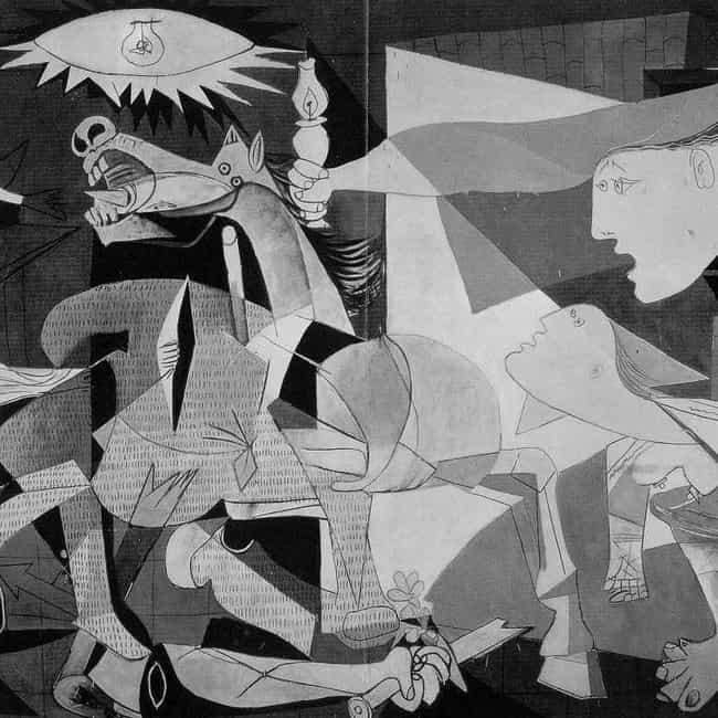 Guernica is listed or ranked 2 on the list famous cubism paintings