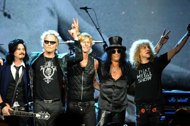 Guns N' Roses is listed (or ranked) 4 on the list The Nastiest Fights In Rock & Roll Hall Of Fame History