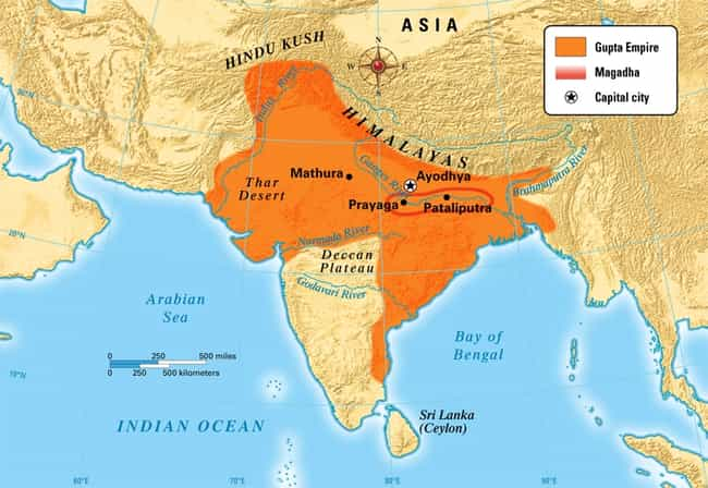 Gupta Empire is listed (or ranked) 4 on the list The Top 10 Greatest Empires of India