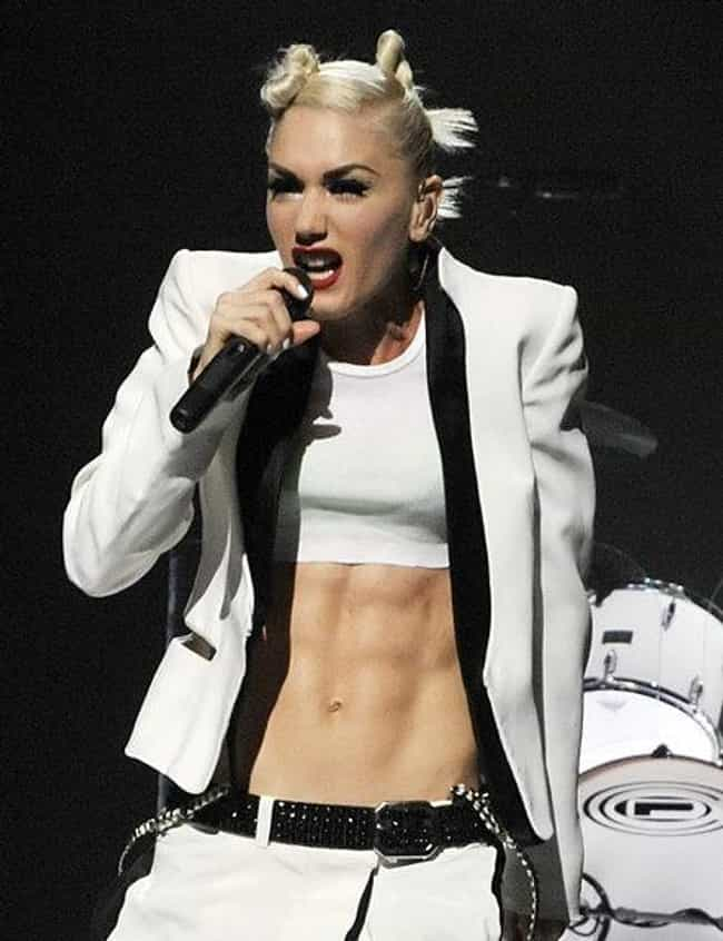 Gwen Stefani is listed (or ranked) 4 on the list Female Celebrities with the Sexiest Abs