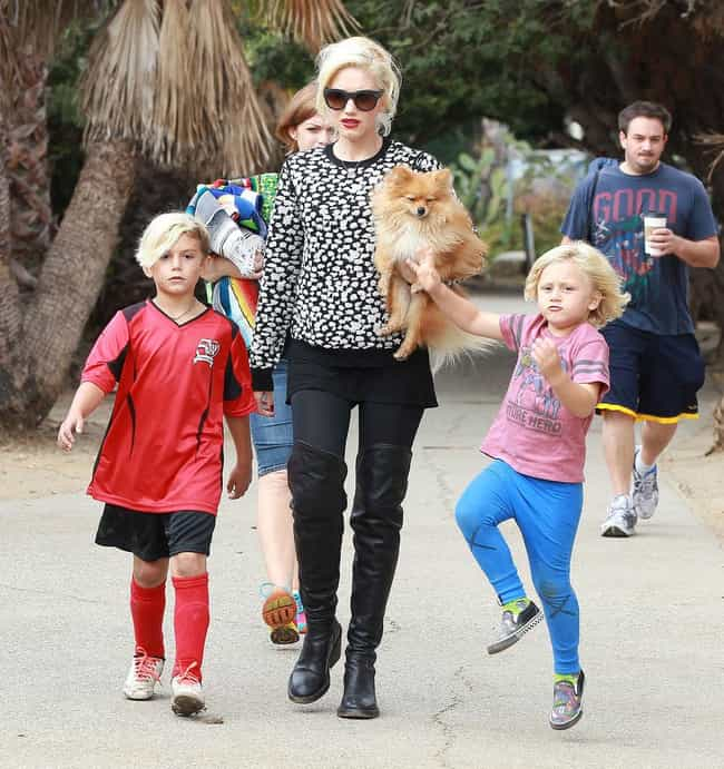 Gwen Stefani is listed (or ranked) 4 on the list Famous Moms Who Only Have Sons