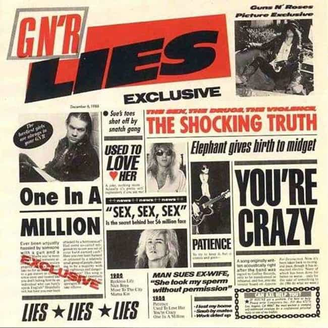 G N' R Lies is listed (or ranked) 4 on the list The Best Guns N' Roses Albums of All Time