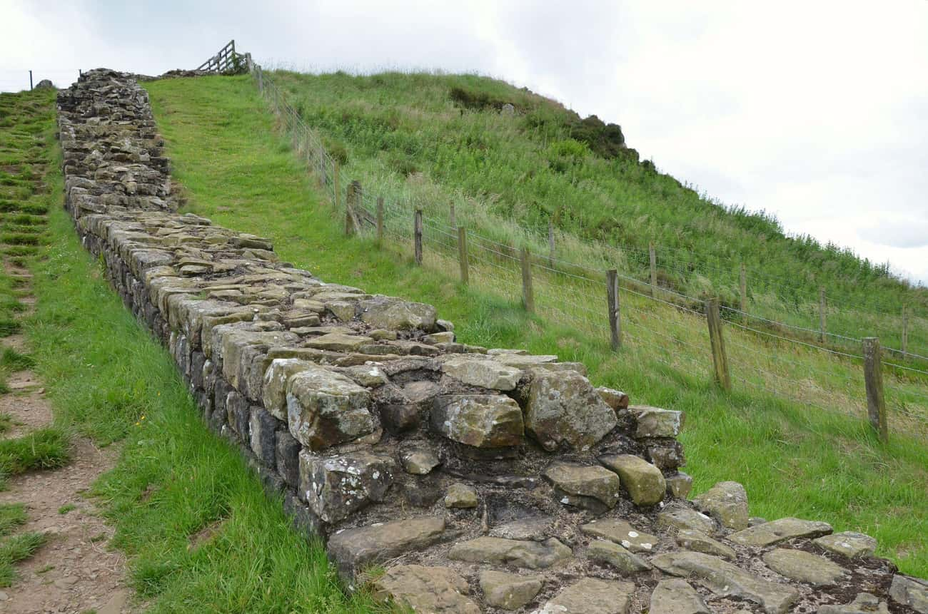 Hadrian's Wall Was Plundered A is listed (or ranked) 4 on the list How Famous Monuments Got Ruined