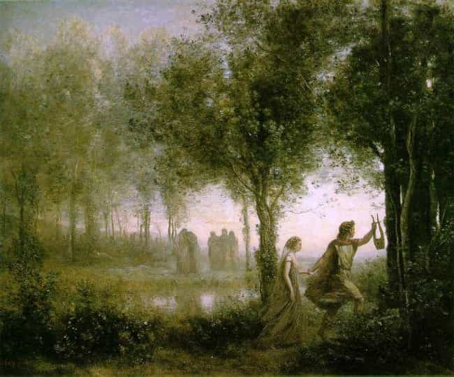 Orpheus Leading Eurydice... is listed (or ranked) 4 on the list Famous Jean-Baptiste Camille Corot Paintings