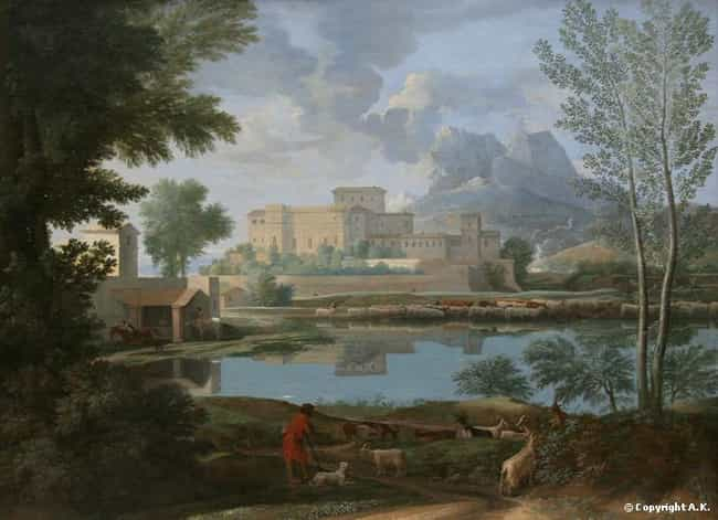 Landscape with a Calm is listed (or ranked) 4 on the list Famous Nicolas Poussin Paintings