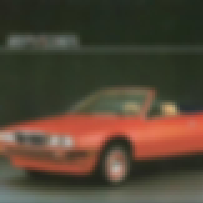 1987 Maserati Biturbo Spyder is listed (or ranked) 1 on the list List of Popular Roadsters