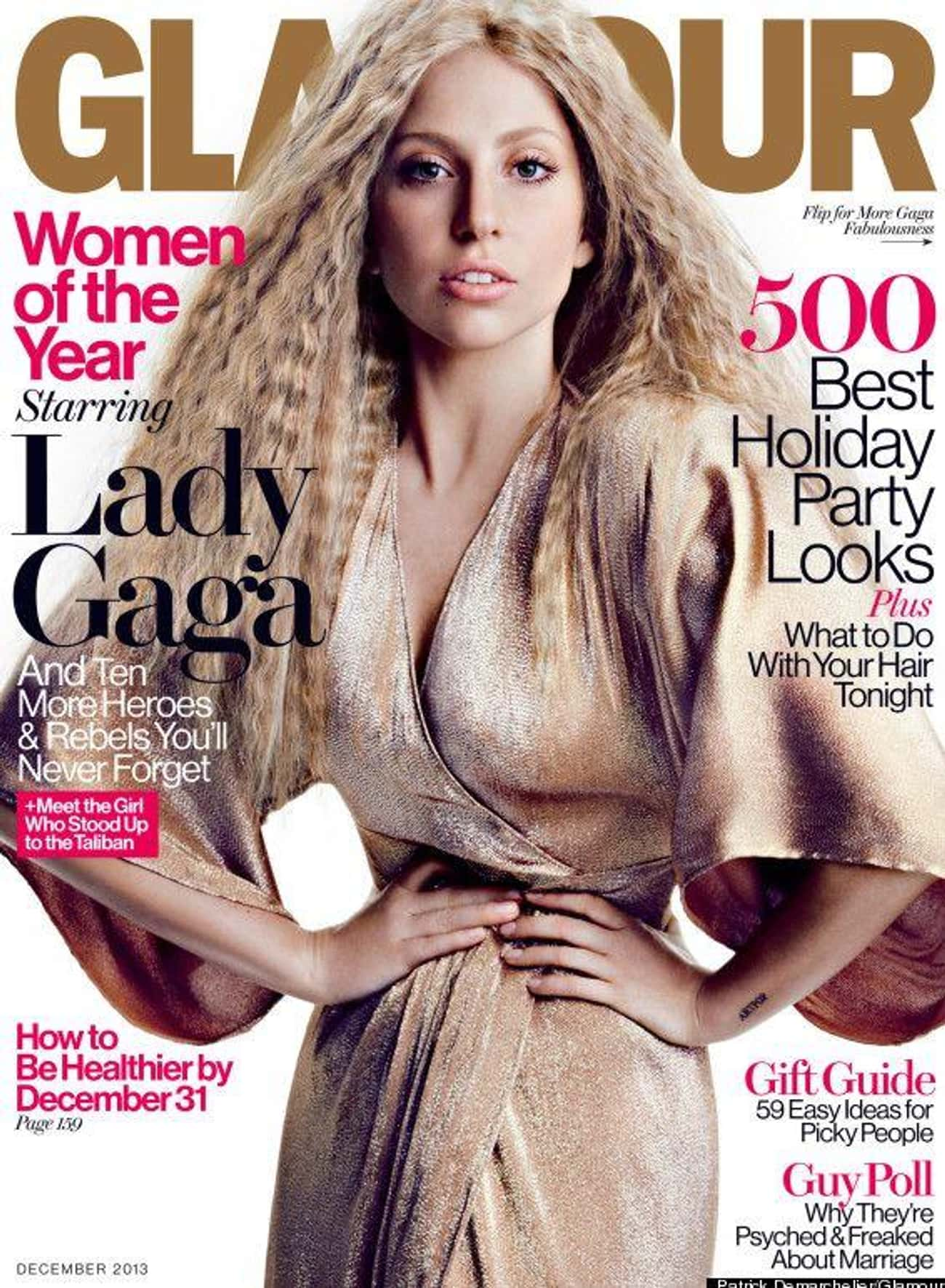 Lady Gaga Called Out 'Glamour' is listed (or ranked) 3 on the list 18 Famous Women Who Called Out Magazines And Media For Retouching Their Bodies