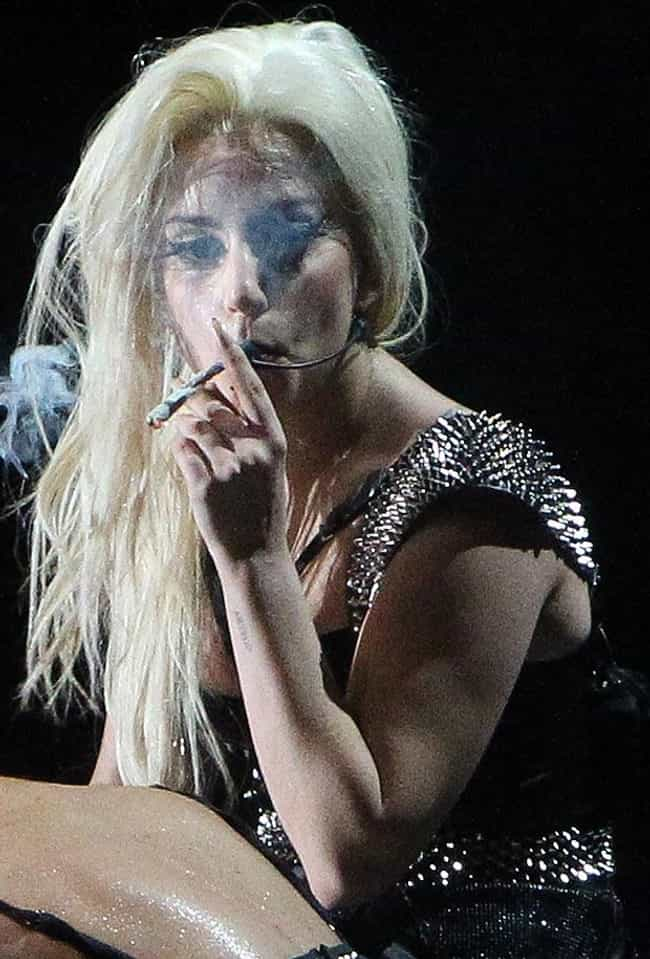 Lady Gaga is listed (or ranked) 3 on the list Celebrities Who Quit Smoking Weed