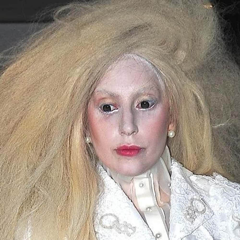 Lady Gaga is listed (or ranked) 1 on the list The Worst Celebrity Makeup Fails