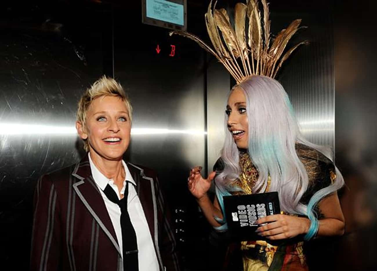 Lady Gaga is listed (or ranked) 4 on the list Famous Friends of Ellen DeGeneres