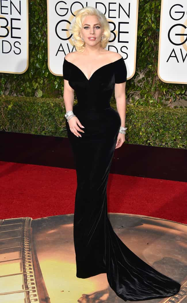 Lady Gaga is listed (or ranked) 2 on the list The Most Stunning Looks at the 2016 Golden Globes