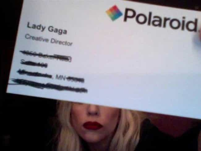 Lady Gaga is listed (or ranked) 4 on the list Celebrity Business Cards You've Never Seen Before