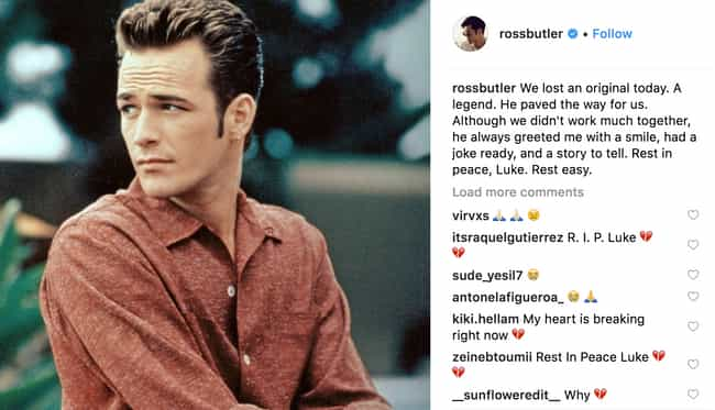 Ross Butler is listed (or ranked) 2 on the list Celebrities React To Luke Perry's Death