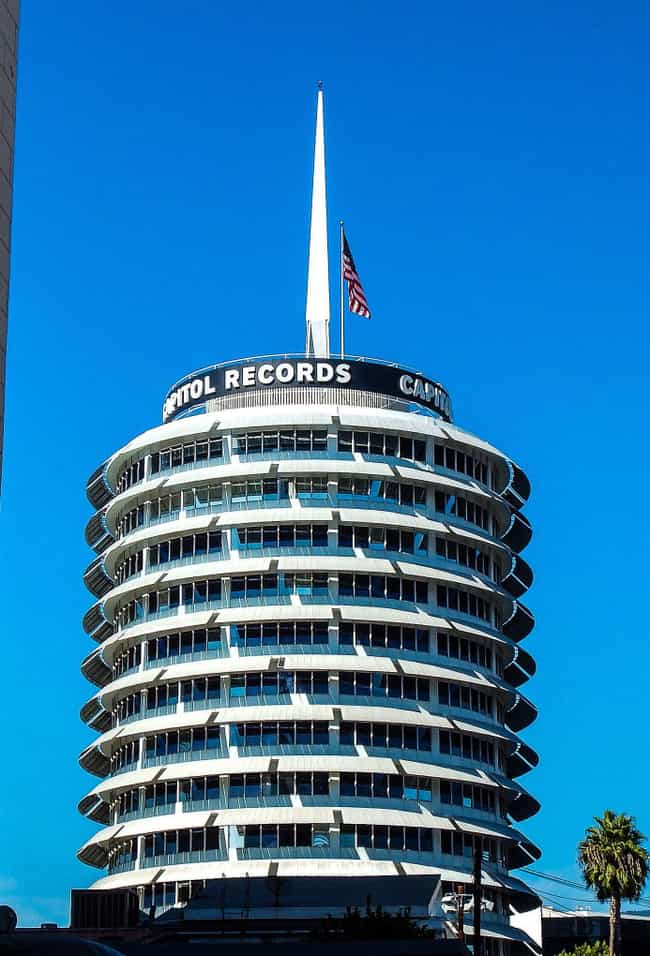 Capitol Records Building is listed (or ranked) 1 on the list Hollywood Architecture: Famous Landmarks and Buildings
