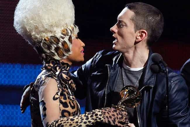 Nicki Minaj is listed (or ranked) 3 on the list Famous Friends of Eminem