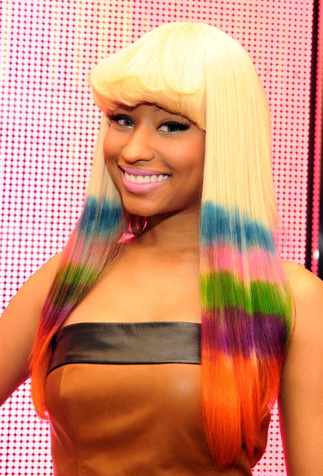 Nicki Minaj is listed (or ranked) 33 on the list Celebrities Rocking Colorful Hair