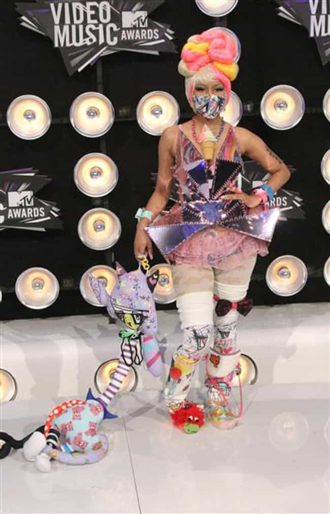 Nicki Minaj is listed (or ranked) 5 on the list The Most Outrageous Outfits Ever Worn to the MTV VMAs