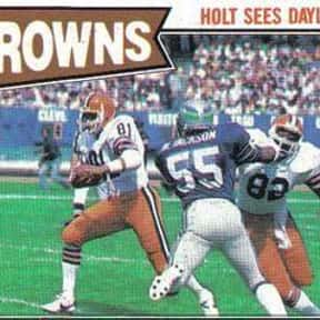 Harry Holt is listed (or ranked) 12 on the list The Best Cleveland Browns Tight Ends Of All Time