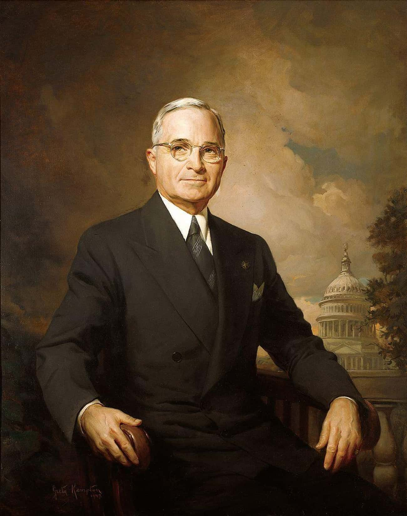 Harry S. Truman is listed (or ranked) 4 on the list All the Presidential Portraits, Ranked