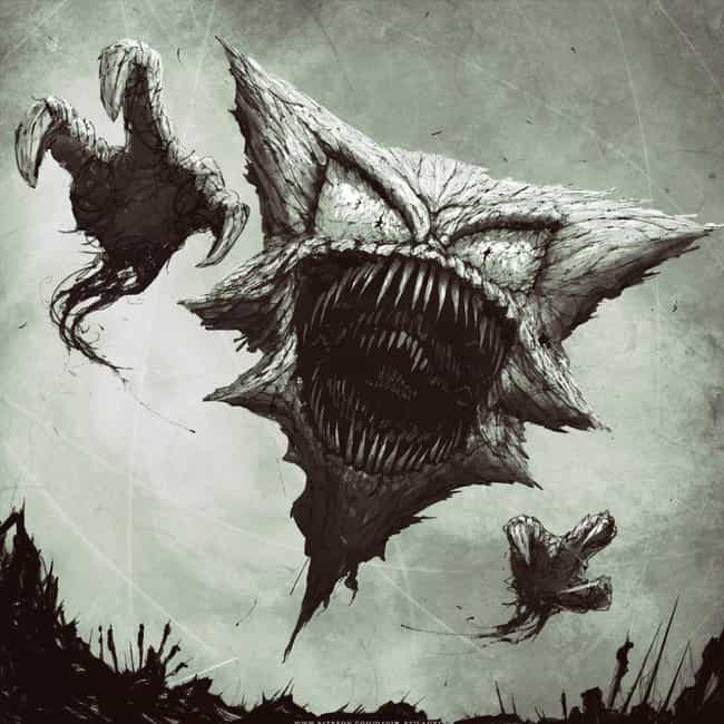 Haunter is listed (or ranked) 1 on the list This Guy Turned Pokémon Into Truly Horrifying Monsters That You Will Never Be Able To Unsee