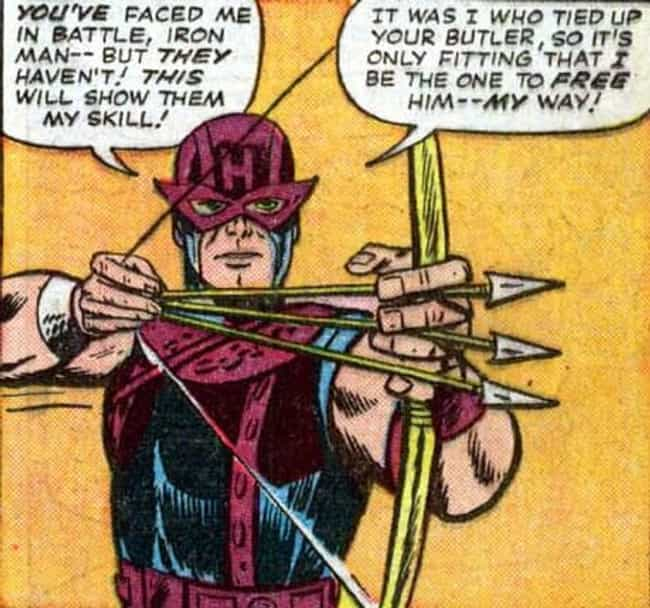 Hawkeye is listed (or ranked) 3 on the list Superheroes Who Started Out as Villains