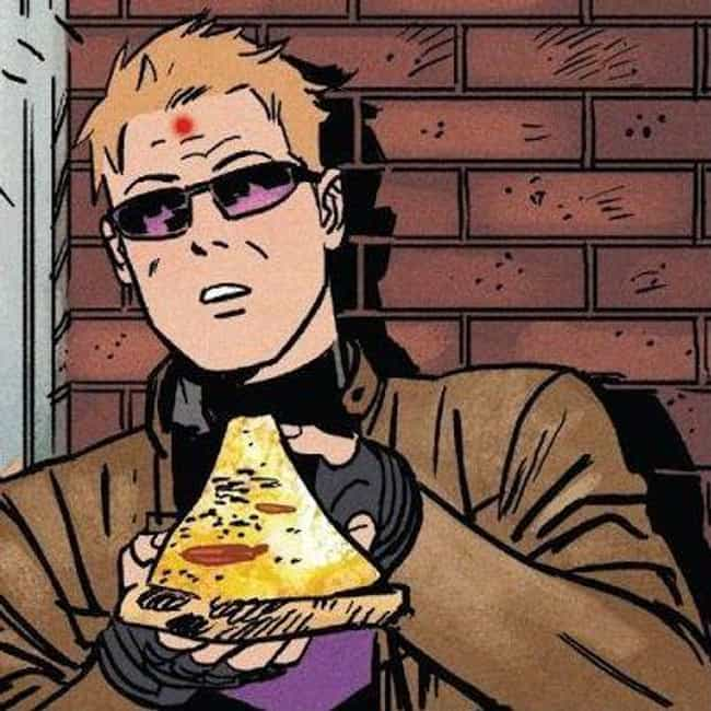 Hawkeye is listed (or ranked) 2 on the list The Best Superheroes Who Wear Glasses