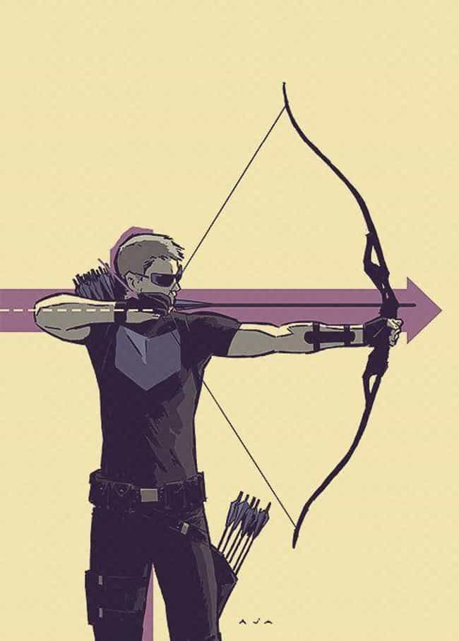 Hawkeye is listed (or ranked) 4 on the list 23 Seemingly Disabled Superheroes & Villains