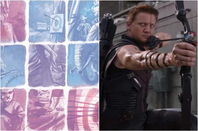Hawkeye is listed (or ranked) 4 on the list Marvel Characters Whose Comic Book Origin Stories Are Way More Upsetting Than The Movies Portrayed