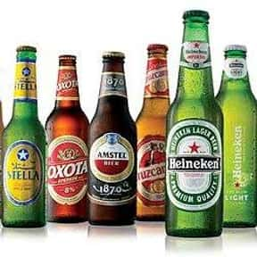Heineken is listed (or ranked) 3 on the list The Best Beer Brands