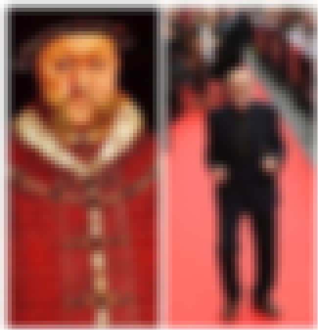 Henry VIII of England is listed (or ranked) 4 on the list Here Are The Modern Height Counterparts To Some Of History's Most Important Figures