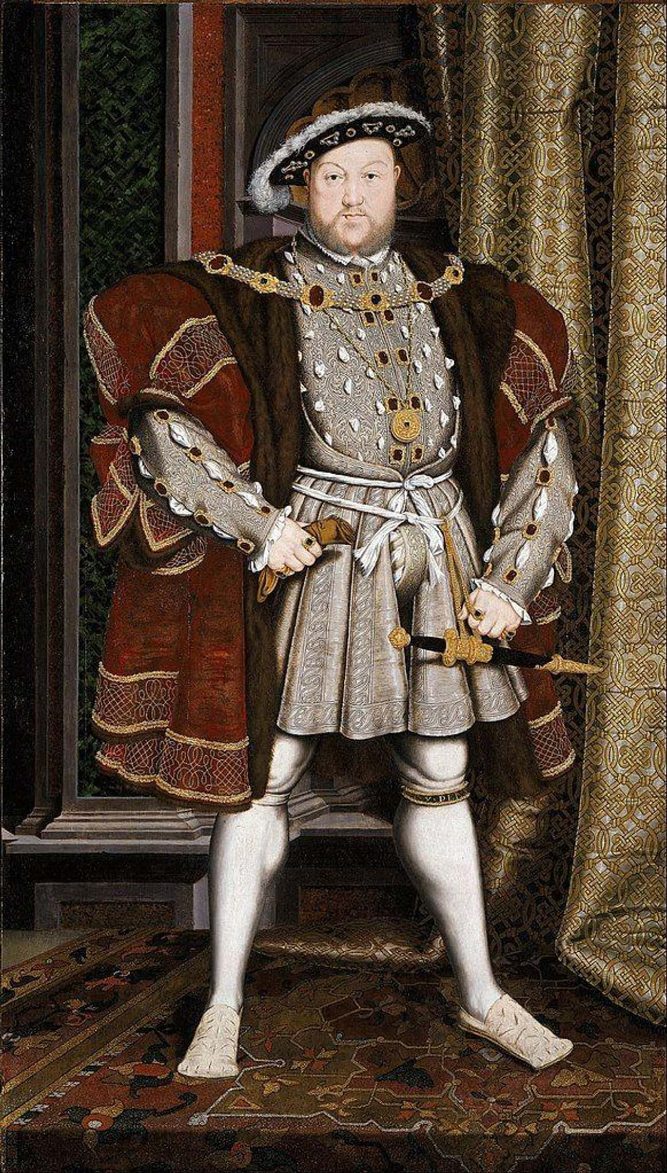 Henry VIII is listed (or ranked) 4 on the list The Most Historically Important Perverts Of All Time
