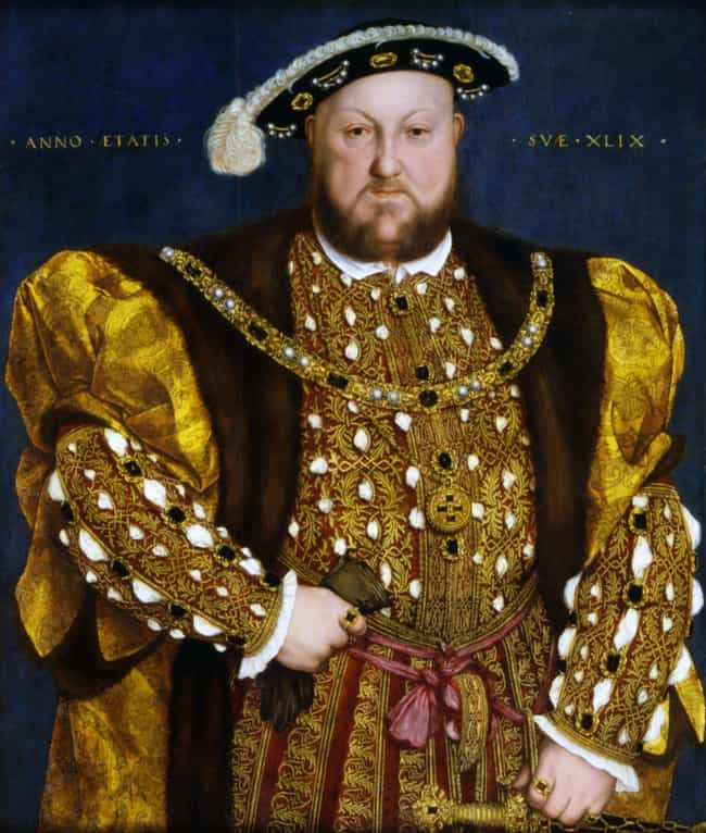 Henry VIII of England is listed (or ranked) 1 on the list The Different Physical Sizes Of British Monarchs