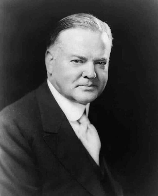 Herbert Hoover is listed (or ranked) 30 on the list Every U.S. President & Every Medical Problem They've Ever Had