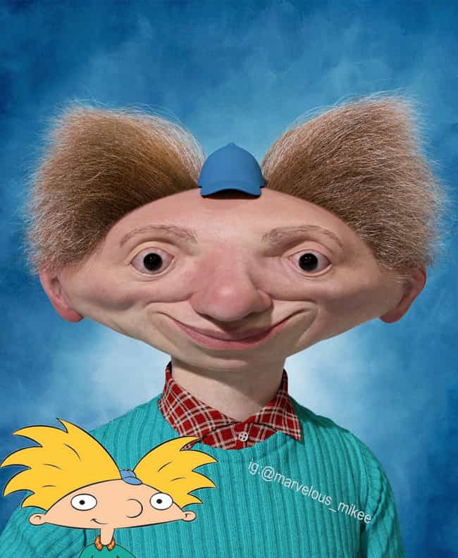 Hey Arnold! is listed (or ranked) 4 on the list Miguel Vasquez Creates Realistic Depictions Of Your Favorite Cartoons And They're Upsettingly Good
