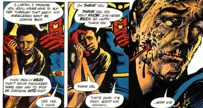 Miracleman is listed (or ranked) 1 on the list 11 Times Innocent Kids Were Killed in Marvel Comics