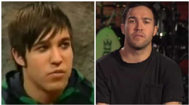 Pete Wentz II is listed (or ranked) 5 on the list Here's What 25 Celebrities Who Usually Have Bangs Look Like Without Them