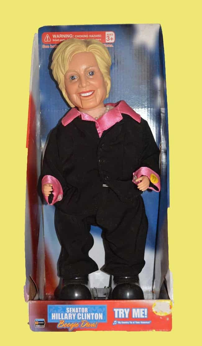 Hillary Clinton is listed (or ranked) 2 on the list Creepy Celebrity Dolls That Will Give You Nightmares